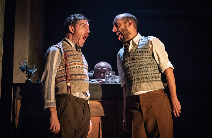 Lee Evans and Tom Edden in Pinter Three. Photo: Marc Brenner