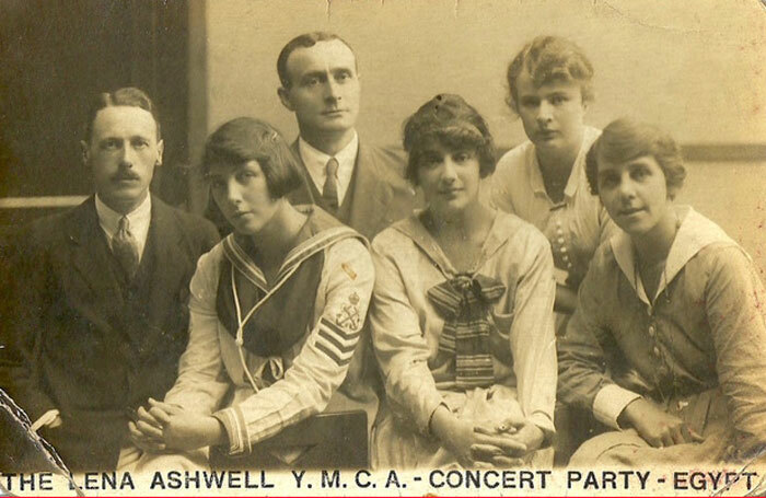 Members of Lena Ashwell's YMCA wartime concert party, who travelled as far afield as Egypt