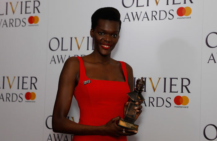 Sheila Atim was speaking at a panel celebrating 10 years of the Papatango New Writing Prize in London. Photo: Pamela Raith