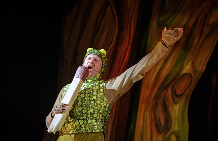 Phil Yarrow in The Wind in the Willows at Polka Theatre. Photo: Craig Fuller