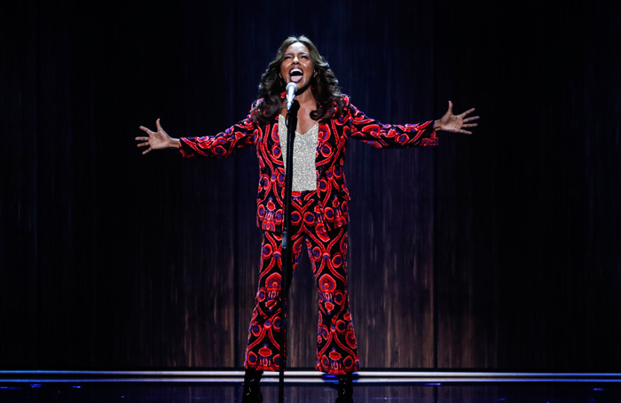 Adrienne Warren performing at the Royal Variety Performance. Photo: ITV