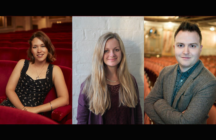New producers at Royal and Derngate, from left: Rosie Townshend, Tess Dowdeswell and Peter Huntley. Photos: Luc Percival