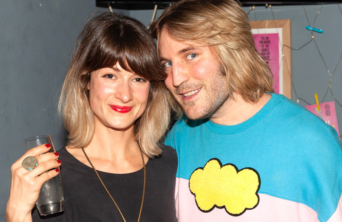 Director Phoebe Barran and guest, comedian Noel Fielding at the press night of Sexy Laundry. Photo: Alastair Hilton