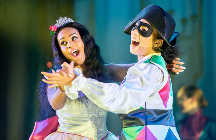 Shorelle Hepkin and Chante Faucher in Cinderella at Oldham Coliseum