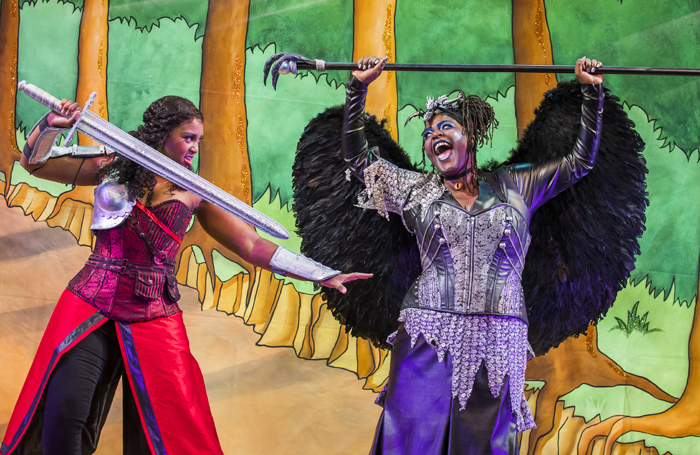 Alexia Khadime and Sharon D Clarke in Hackney Empire's Sleeping Beauty – a production which The Stage described as 'explicitly political'. Photo: Tristram Kenton
