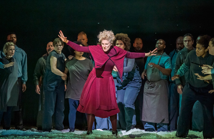 Emma Bell in War Requiem at London Coliseum. Photo: Tristram Kenton