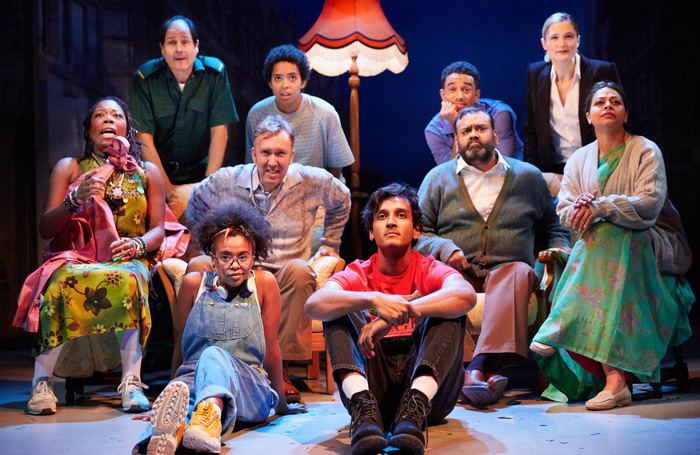 The cast of White Teeth at Kiln Theatre, London