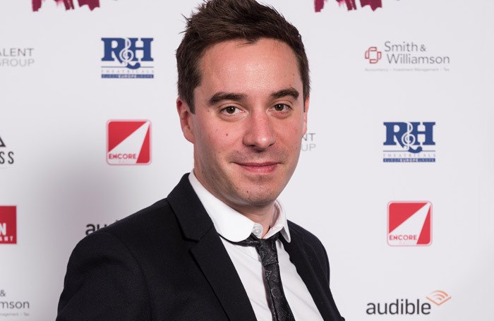 James Graham pictured at The Stage Debut Awards earlier this year. Photo: Alex Brenner