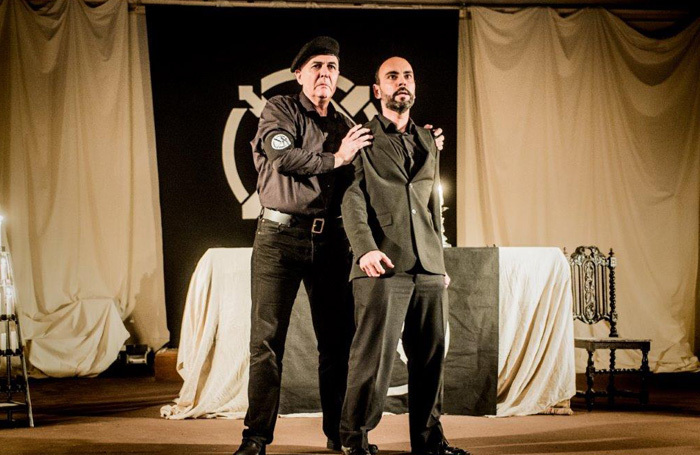 Andrew Mayor and 	Alberto Sousa in Don Carlo at St John's Fulham. Photo: Robert Workman