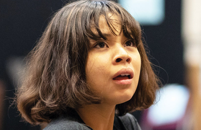 Eva Noblezada in rehearsal for Hadestown. Photo: Helen Maybanks
