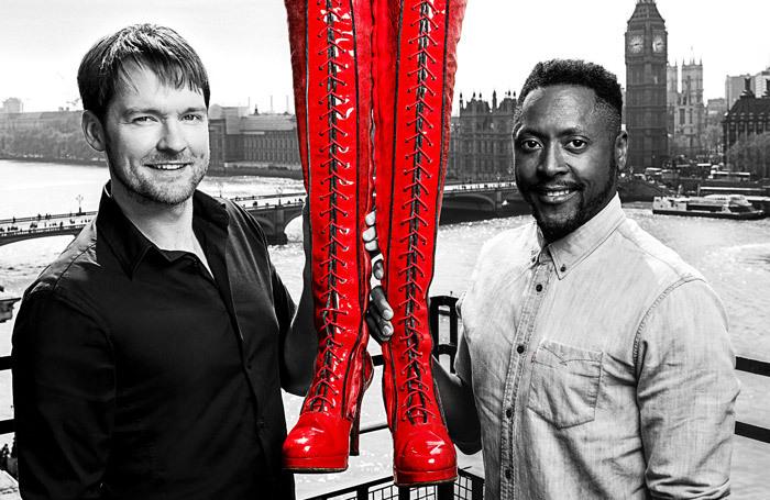 Killian Donnelly and Matt Henry will return to Kinky Boots. Photo: Darren Bell
