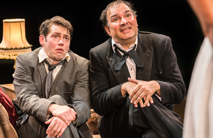 Stuart Neal and Julius D'Silva in The Producers at the Royal Exchange Theatre, Manchester. Photo: Johan Persson