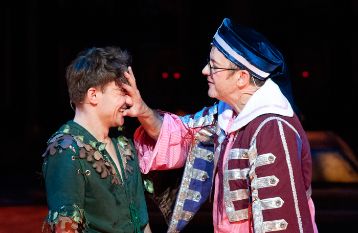 Joe Pasquale in Peter Pan at Theatre Royal, Nottingham. Photo: Tracey Whitefoot