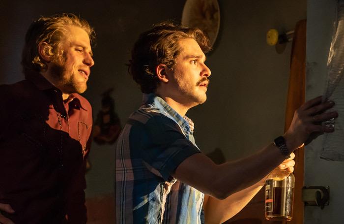 Johnny Flynn and Kit Harington in True West at Vaudeville Theatre. Photo: Marc Brenner
