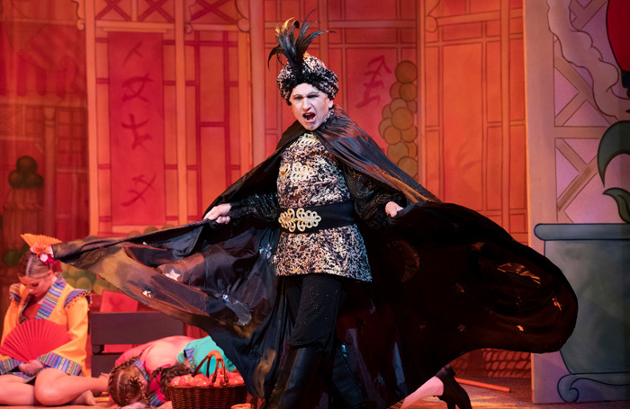 Wayne Sleep in Aladdin at Cambridge Arts Theatre. Photo: Richard Hubert Smith