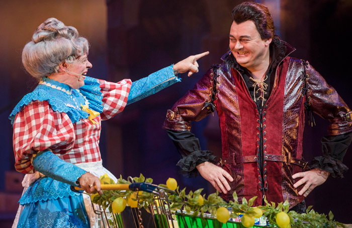 Allan Stewart and Grant Stott in Beauty and the Beast at King's Theatre, Edinburgh. Photo: Douglas Robertson