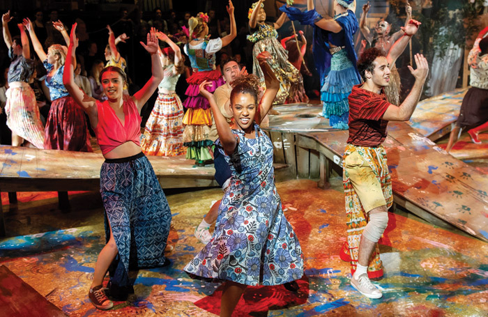 ArtsEd's musical theatre show Once on This Island (2018). Photo: Robin Savage