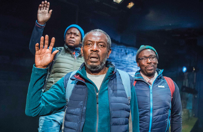 Cast of Black Men Walking at the Royal Exchange Manchester. Photo: Tristram Kenton