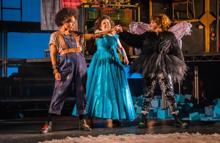 Bonnie Baddoo, Isobel McArthur and Sally Reid in Wendy and Peter Pan. Photo: Mihaela Bodlovic