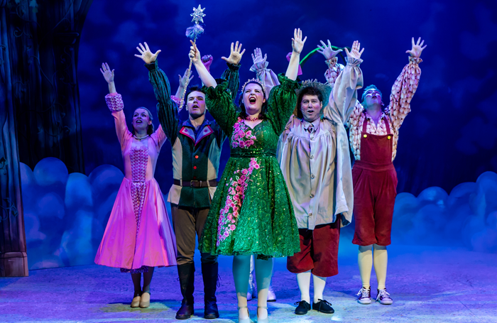 Cast of Jack and the Beanstalk at Newbury Corn Exchange. Photo: The Other Richard
