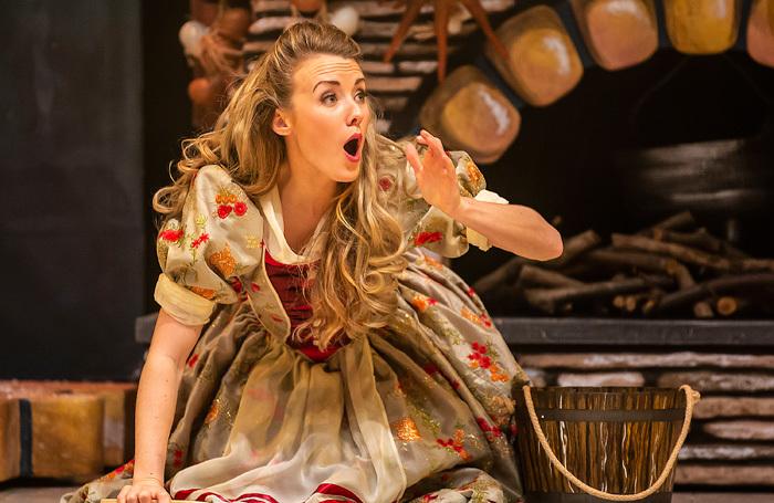 Cara Dudgeon in Cinderella  at Marlowe Theatre, Canterbury. Photo: Pamela Raith