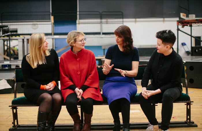The Citizens Theatre season will feature work by (l-r) playwrights Frances Poet, Zinnie Harris,  the Citizens' community drama artist Elly Goodman and playwright Stef Smith. Photo: Citizens Theatre