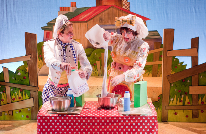 Ewan Petrie and Graham Crammond in Jack and the Beanstalk