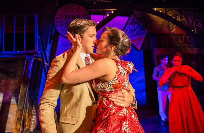 Scene from Guys and Dolls at the Mill at Sonning. Photo: Andreas Lambis