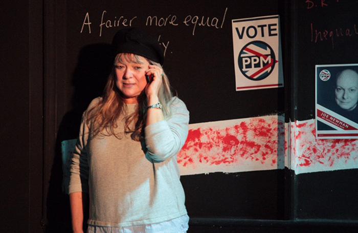 Scene from An Honourable Man at White Bear Theatre, London. Photo: Credits: Lisa Bowerman and Claude Baskind