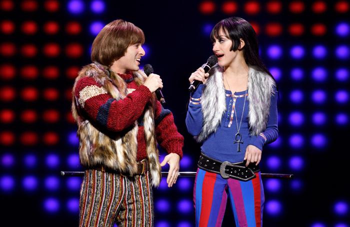 Jarrod Specor and Micaela Diamond in The Cher Show at Neil Diamond Theatre, New York. Photo: Joan Marcus