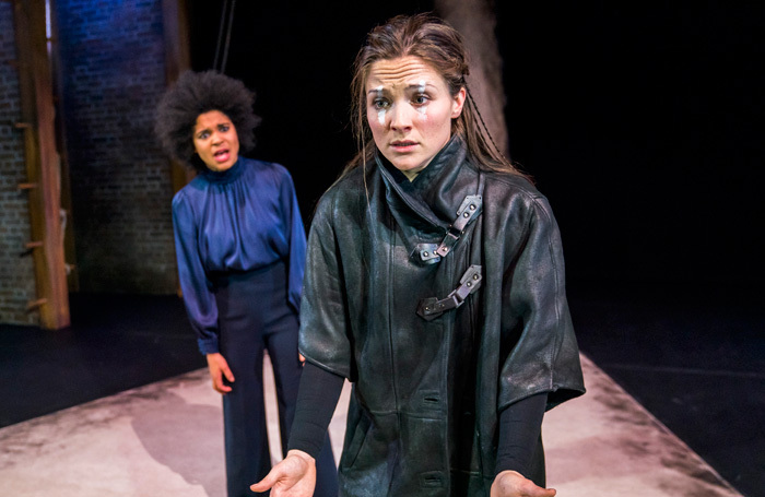Isabel Adomakoh Young and Olivia Dowd  in Macbeth at the Garrick Theatre, London. Photo: Tristram Kenton