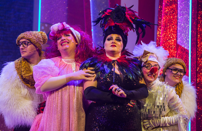 The cast of Mammy Goose at the Tron Theatre, Glasgow