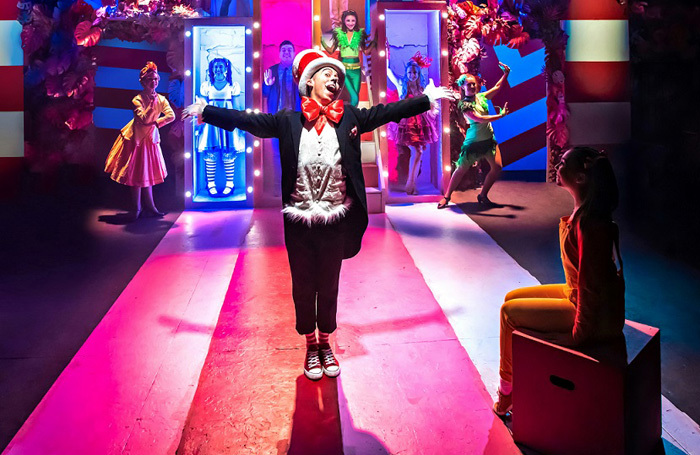 Marc Pickering and the cast of Seussical at Southwark Playhouse, London. Photo: Adam Trigg