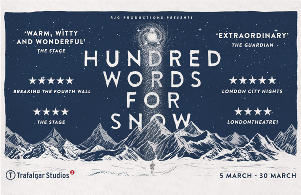 Competition: Win tickets to A Hundred Words for Snow at Trafalgar Studios