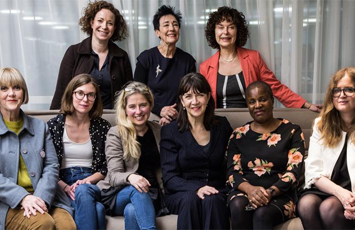 Back row, from left: Jemma Gross, Sue Parrish, Julia Pascal. Front row: Polly Kemp, Chloe Todd Fordham, Elizabeth Newman, Maureen Beattie, Winsome Pinnock, Jennifer Tuckett. Photo: Isabella Ferro D