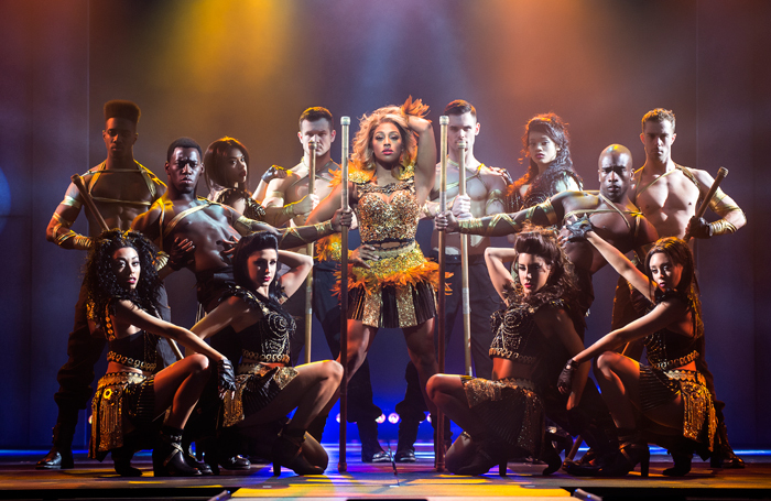 Alexandra Burke and ensemble in The Bodyguard at Theatre Royal Glasgow. Photo: Paul Coltas