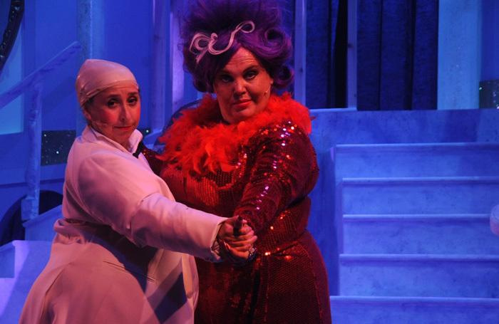 Keddy Sutton and Lindzi Germain in The Scouse Cinderella. Photo: Zanto Digital