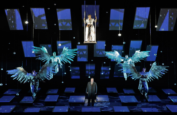 The cast of It's a Wonderful Life at San Francisco Opera. Photo: Cory Weaver/San Francisco Opera