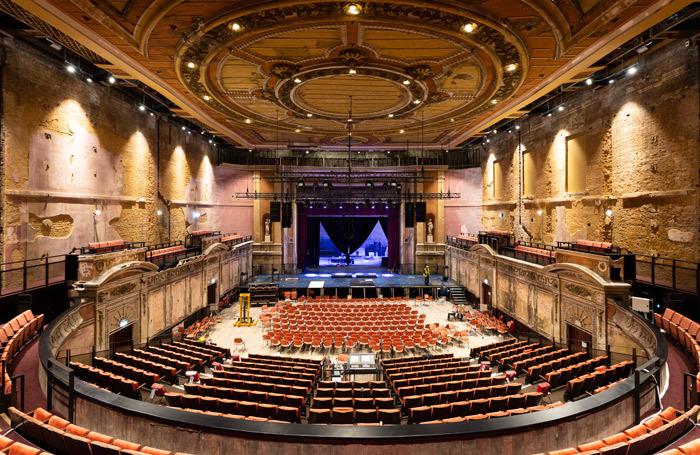 The newly restored auditorium of Alexandra Palace Theatre. Photo: Miles Willis