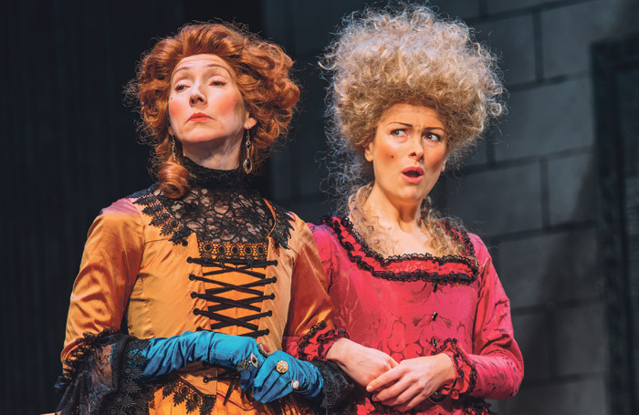 Pauline Knowles and Nicola Roy in The Belle's Stratagem at Edinburgh Lyceum. But what happened to Mr O'Rourke's trousers? Photo: Mihaela Bodlovic