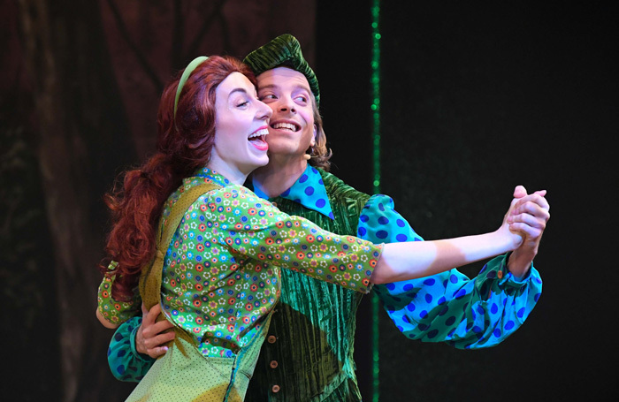 Genevieve Lowe and Tom Riddell in Maid Marian at the Swan Theatre, Worcester