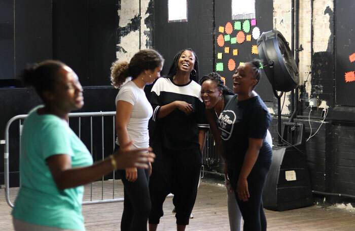 The Nouveau Riche team rehearsing for the award-winning Queens of Sheba. Photo: James Hardie