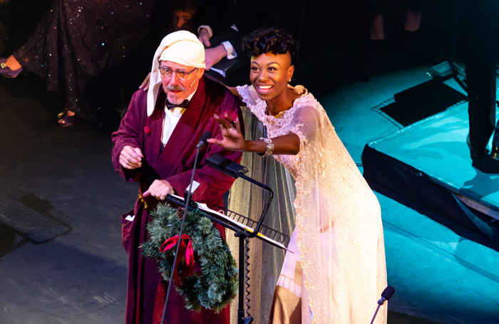 Griff Rhys Jones and Miriam-Teak Lee in A Christmas Carol at Lyceum Theatre, London. Photo: Nick Rutter