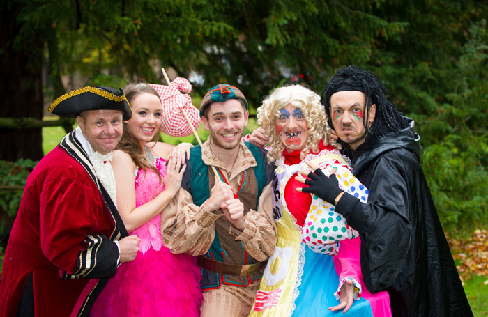 The cast of Dick Whittington at Prince of Wales Theatre, Cannock