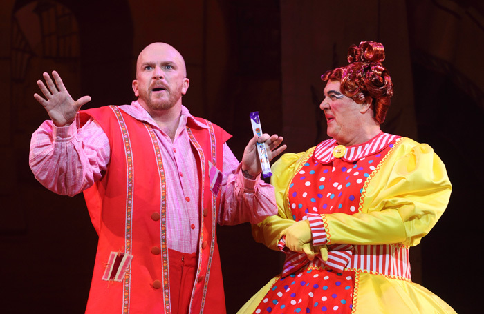 Edward Rowe and Mike Doyle in Beauty and the Beast. Photo: Brian Tarr