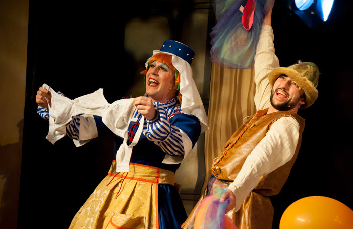 Chris Clarkson and Oliver Mawdsley in Sleeping Beauty at Theatre Rioyal Bury St Edmunds