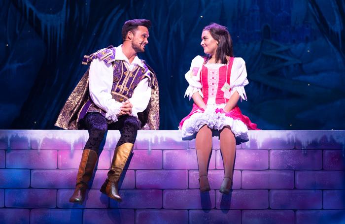 Gareth Gates and Shannon Flynn in Cinderella at Manchester Opera House. Photo: Phil Tragen