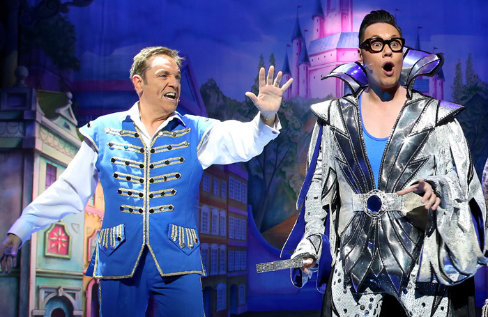 Brian Conley and Gok Wan in Cinderella at the Bristol Hippodrome. Photo: Barry Rivett