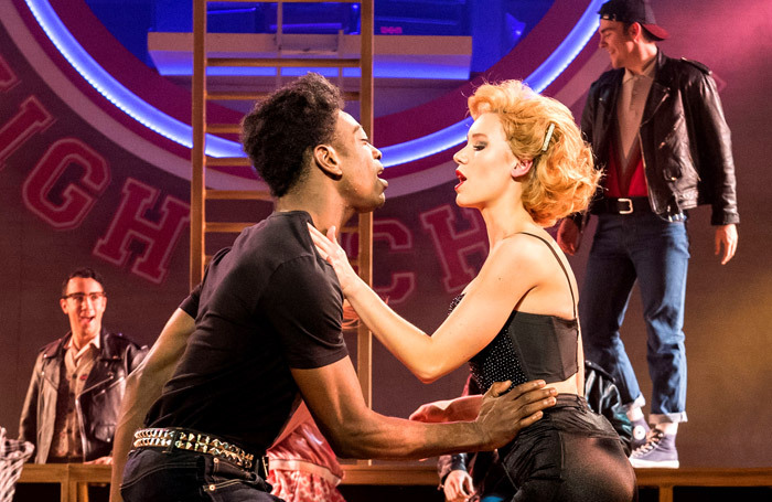 Dex Lee and Jessica Paul in Grease – one of the musicals Concord Theatricals now owns the rights to – at Curve, Leicester, in 2016. Photo: Manuel Harlan