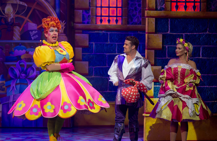 Andrew Ryan, Joe McElderry and Suzanne Shaw in Dick Whittington at the Mayflower, Southampton